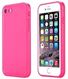 iphone 5 cases customized - iPhone Se Waterproof Case, Super Slim Thin Light [360 All Round Protective] Full-Sealed IPX-6 Waterproof Shockproof Dust/Snow Proof Case Cover for iPhone Se/5s/ 5 (Hot Pink)