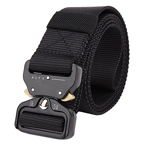 IDOGEAR 1.5 Inch Tactical Belt Quick Release Shooter Airsoft Hunting Shooting Combat Military Waist Belts Sports Outdoor Gear (Black)
