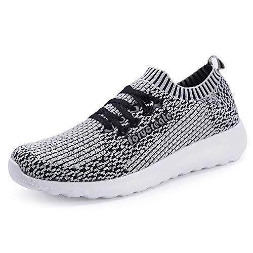 Forucreate Womens Casual Walking Athletic Shoes Lightweight Slip On Sneakers Breathable Mesh Shoes