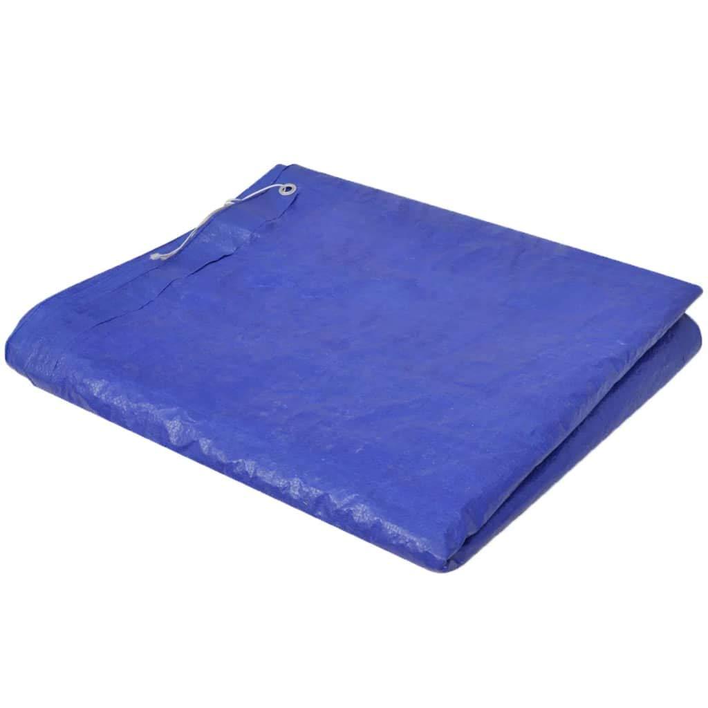 vidaXL Cubierta Piscina Rectangular PE Azul 394x207cm Toldo ...