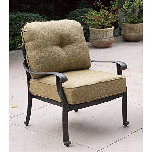 Darlee Elisabeth Outdoor Club Chair in Antique Bronze (Set of 2) -