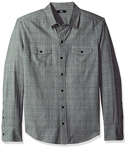 PAIGE Men's Everett Shirt, Harbor Grey, M by PAIGE