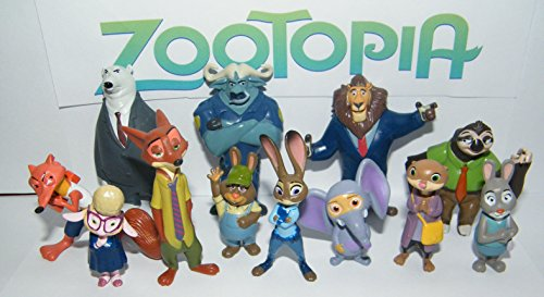 - Disney Zootopia Movie Deluxe Party Favors Goody Bag Fillers Set of 13 Figures with Officer Hopp, Foxy Nick Wilde, Flash, Lionheart and Many More!