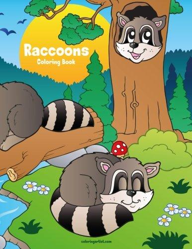 Raccoons Coloring Book 1 (Volume 1)