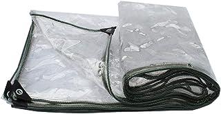 Teloni Tarpaulin Trasparente Doppia Faccia Robusto Poly Tarp Pieghevole Resistenza allo Strappo Resistente all'Usura A Prova di Vento A Prova di Polvere con Occhielli per All'aperto Giardino
