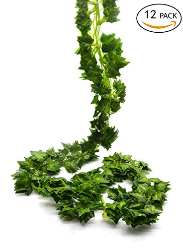 Bird Fiy 78 Ft-12 Boston ivy leaf Artificial Fake Hanging Vine Plant Leaves Garland Home Garden Wall Decoration