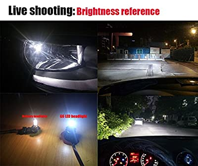 LED headlight ,IMOSONTEC A Pair of LED Headlights H7/H11/5202/9005/9006/9012For Cars Super Bright Headlight Bulbs Conversion Kit Headlamps with 96W/9600LM white/6000K color temp
