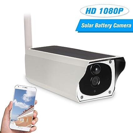 OWSOO HD 1080P Cámara IP Solar y Energía de Batería Cámaras Bala WiFi Inalámbrico Cámara de