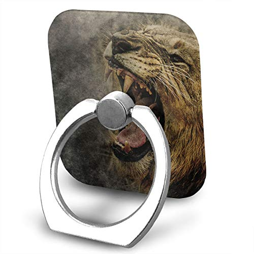 SJWE0 Lions Wild Roar Finger Ring Stand,Cellphone Ring Stand Holder, Universal Metal Grip Stand/Kickstand Apply to iPhone X 8 Plus 7 7 Plus /6s 6 Plus/Galaxy S8 Plus ()