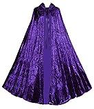 Victorian Vagabond Gothic Renaissance Steampunk Velvet Cape Cloak Purple