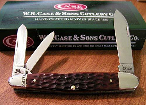 Case 18209 Chestnut Jigged Bone Handle 3 Blade Cigar Whittler