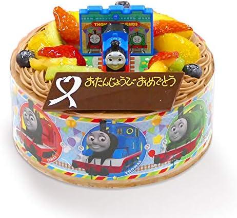キャラデコお祝いケーキきかんしゃトーマス 5号 15cm チョコクリームショートケーキ