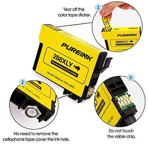 PUREINK Ink cartridges Replacement for 288 288XL, 1 Set+1 Black, High Yield, (2 Black 1 Cyan 1 Magenta 1 Yellow) Photo #3