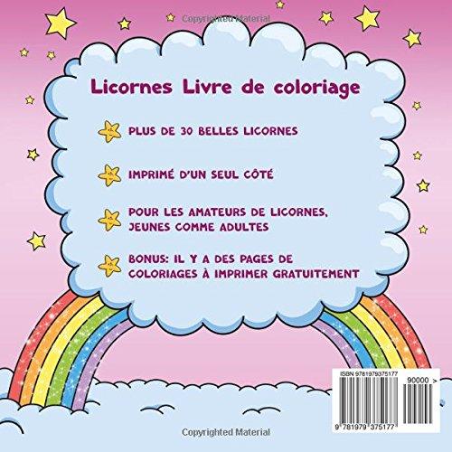 Coloriage De Licorne Deja Colorier.Licornes Livre De Coloriage Pour Enfants Et Adultes Bonus