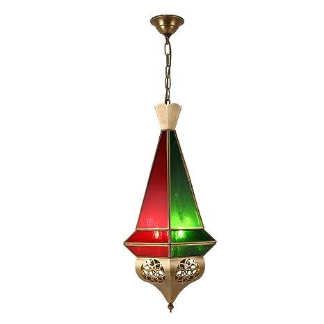 Lámpara Oriental Lámpara Colgante Rojo Azul | Portalámparas ...