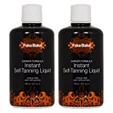 Fake Bake Darker Formula Instant Self-Tanning Liquid 32oz ''Pack of 2''