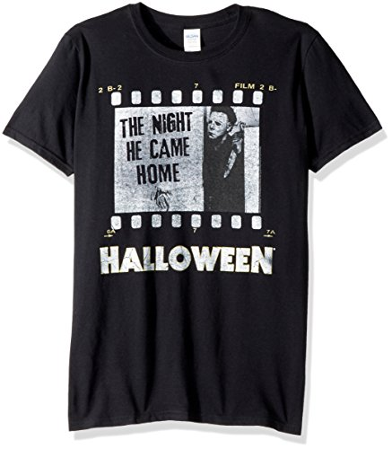 American Classics Unisex Halloween The Movie Film Strip Adult Short Sleeve T-Shirt, Black, XXLarge -