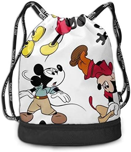 ナップサック ミッキーマウス 巾着袋 巾着バックパック スポーツバック ジムサック 多機能 通勤 運動 人気 旅行 収納袋 小物入れ 防水 おしゃれ かわいい 軽量 乾湿分離 大容量