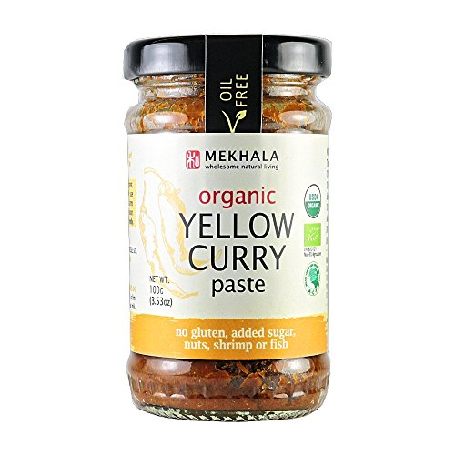 MEKHALA Organic Yellow Curry Paste, 3.53 OZ