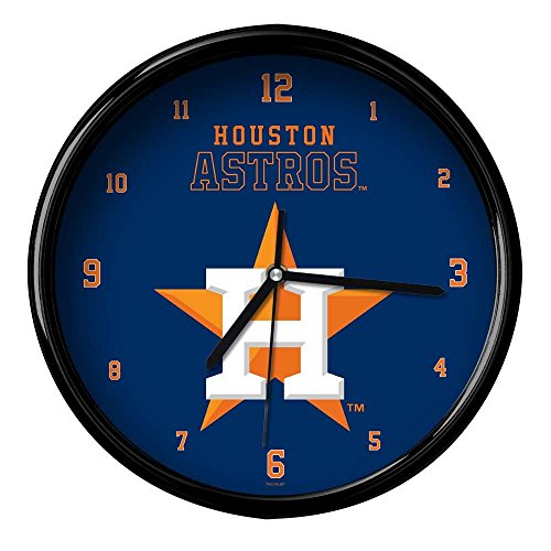 The Memory Company MLB Houston Astros Official Black Rim Basic Clock, Multicolor, One Size