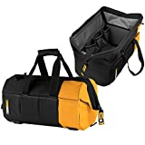 ToughBuilt - 16'' Massive Mouth Tool Bag | 38 Pockets & Loops, Heavy-duty, Rigid Hard Body Lining, Zipper Lock Wide Mouth Tool Storage/Organizer Box, Plastic-lined External Pocket (TB-60-16)