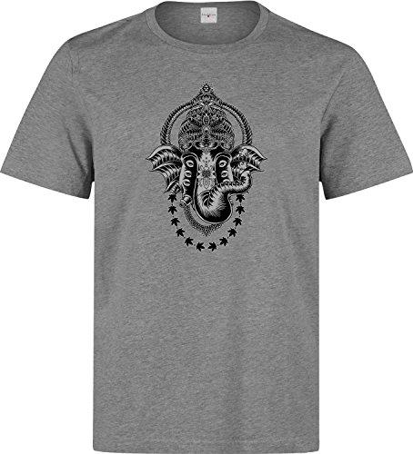 Elephant halutination weed cannabis indian style t shirt herren baumwoll grau