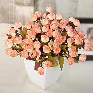 Artificial Hyacinth - 15pcs Flower Heads Camellia Magnolia Floral Bouquet Hydrangea Home Party Decor - Crown Assortment Dress Clips Dresses Heads Bulk CakeBand Wholesale Chain Piec 65