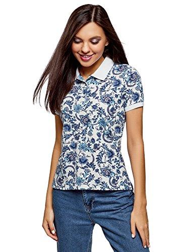 oodji Ultra Damen Bedrucktes Baumwoll-Poloshirt