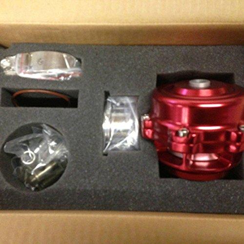 XS-Power 50MM bov 50 TURBO UNIVERSAL BILLET ALUMINUM BLOW OFF VALVE RED SPRING+FLANGE ()
