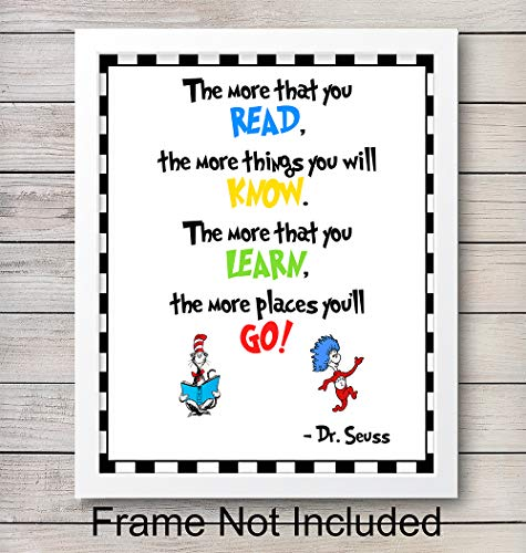 Dr. Seuss Quote - Unframed Wall Art Print - Motivational - Makes an Easy Affordable Gift - Perfect Home Decor for Nursery, Girls or Boys Room - Ideal Classroom Display - Ready to Frame (8x10) Photo]()