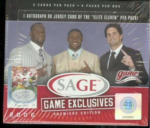 2006 Sage Game Exclusive Football HOBBY Box - 6P
