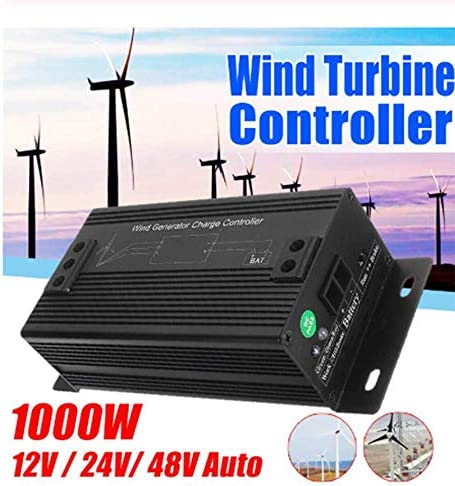 SISHUINIANHUA 1000W 48V IP50 Wasserdicht Windturbinen-Generator-Laderegler Regulator Außen Wind-Generator-Controller,12v