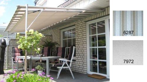 Leco Luxus Markise Vlexy Plus 3x4m Terrassenüberdachung Sonnenschutz grau