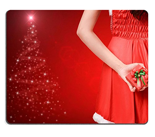 [Liili Mouse Pad Natural Rubber Mousepad IMAGE ID 33693017 pretty women in santa outfit and christmas] (Glamour Costumes 2016)