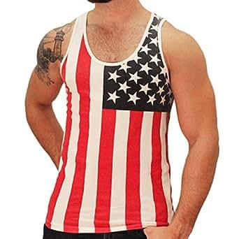 American Summer US Flag Men's Tank Top (X-Small)