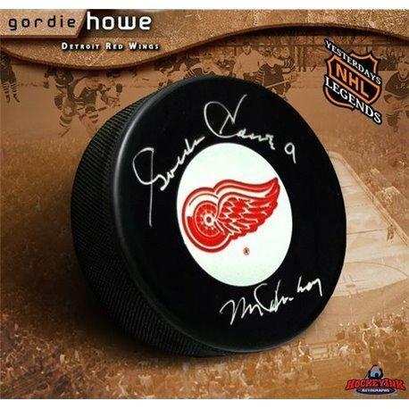Gordie Howe Autographed Hockey Puck (Gordie Howe Autographed Hockey Puck - Autographed NHL)