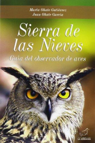 Descargar Libro Sierra De Las Nieves: Guía Del Observador De Aves Marta Oñate García