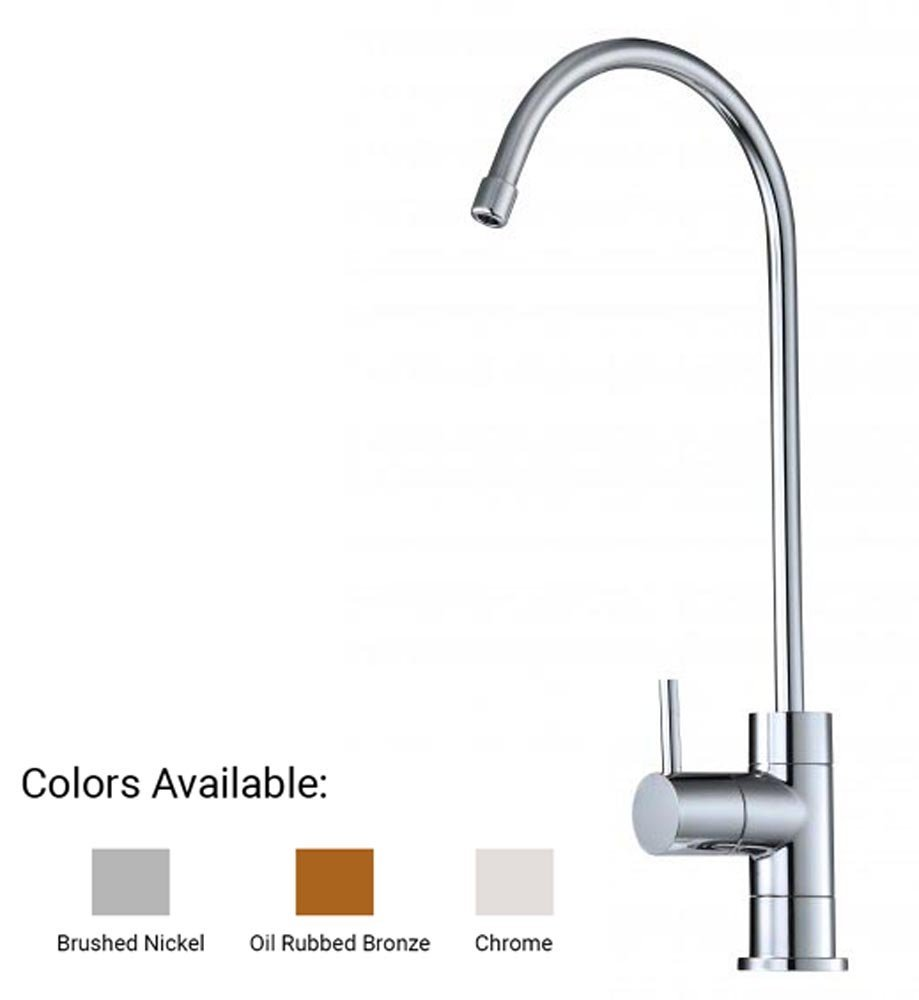 Series 8 Water Faucet for Any Water Filtration System or Reverse Osmosis System (Chrome)