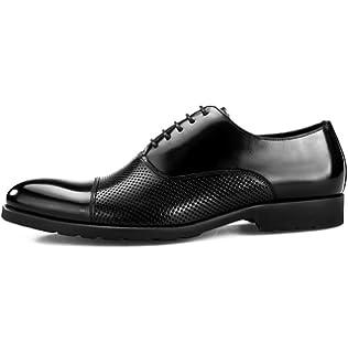LYZGF Hommes Gentleman Business Casual Mode Paresseux Conduite Chaussures en Cuir,Black-38
