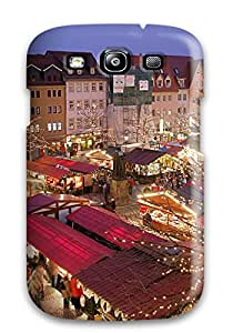 Galaxy S3 Christmas Market Jena Print High Quality Tpu Gel Frame Case Cover