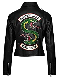 Fashions Maniac Womens Riverdale Cole Sprouse Jughead Jones Black Faux Leather Jacket