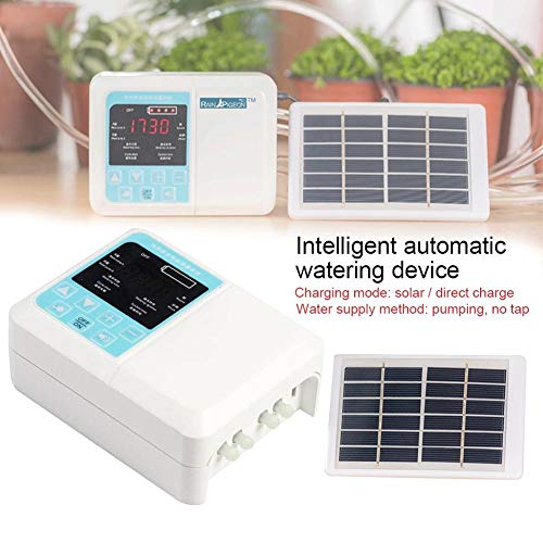 US-Pop Trading Automatic Watering Kit Automatic Drip Irrigation Kit Self Watering System Solar Water Timer Controller Safety and Energy Saving for Home Indoor Garden Outdoor Potted Plants