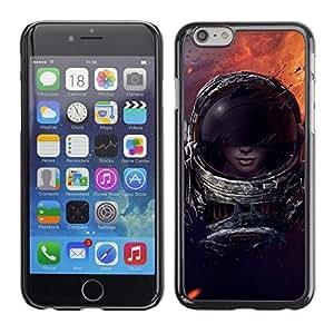 TECHCASE**Cubierta de la caja de protección la piel dura para el ** Apple iPhone 6 Plus 5.5 ** Space Trave Suit Woman Sexy Cosmos Space