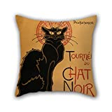 slimmingpiggy throw cushion covers 20 x 20 inches / 50 by 50 cm(2 sides) nice choice for christmas,gf,bedding,deck chair,father,office oil painting Théophile-Alexandre Steinlen - Tournée du Chat N