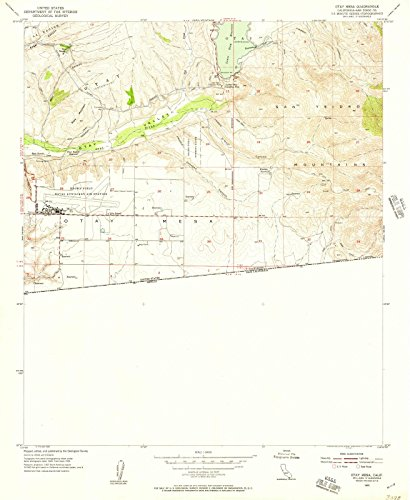 California Maps - 1955 OTAY Mesa, CA USGS Historical Topographic Map - Cartography Wall Art - 44in x ()