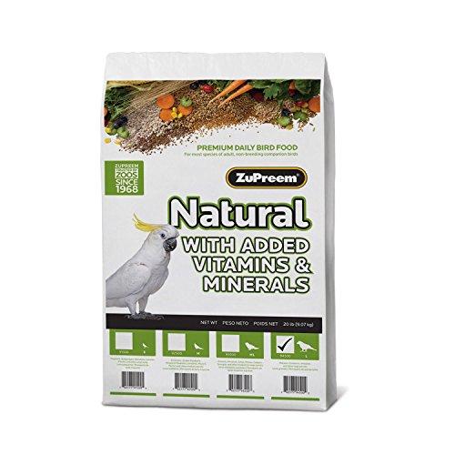 5146A2ZaHvL - ZuPreem Natural Large Bird Food, 3-Pound