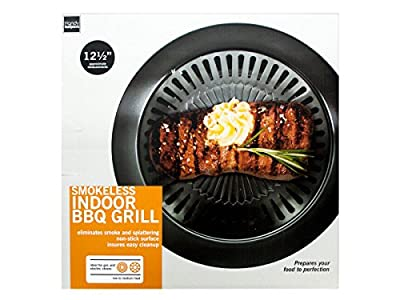Smokeless BBQ Grill Indoor Stove Top Barbecue Non Stick Griddle Plate 12.5 inch