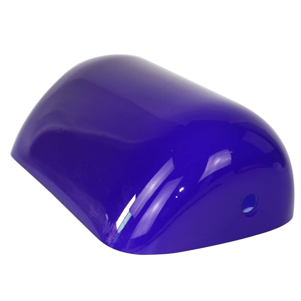 Newrays Remplacement Glass Bankers Couverture de l'abat-jour pour lampe de bureau (bleu) [Classe énergétique A+] TS101