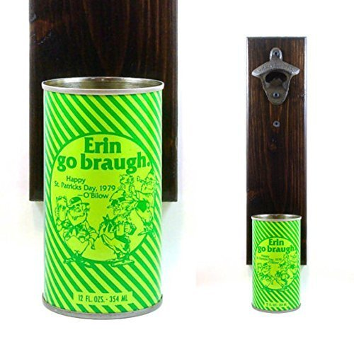 Bilow New Jersey St. Patrick's Day 1979 Wall Mounted Beer Bottle Opener Beer Can Cap Catcher