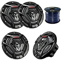 Marine Speaker JVC CS-DR6200M 100-Watt 6.5 2-Way Marine Boat Yacht Outdoor Waterproof Black Coaxial Speakers